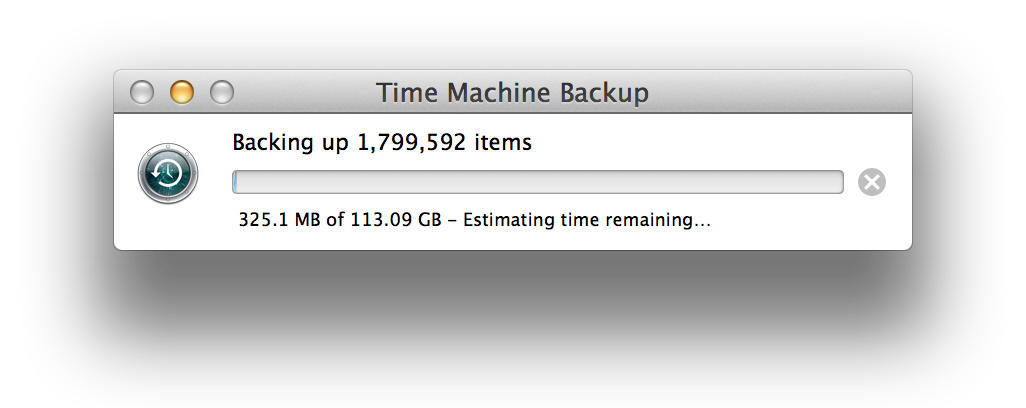 backing up...
